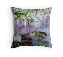 Butterfly Pea - a species of Clitoria Throw Pillow