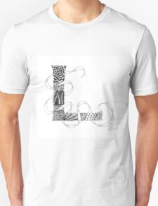 Zentangle®-Inspired Art - Tangled Alphabet - L T-Shirt