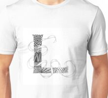 Zentangle®-Inspired Art - Tangled Alphabet - L Unisex T-Shirt