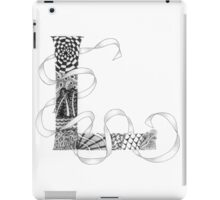 Zentangle®-Inspired Art - Tangled Alphabet - L iPad Case/Skin
