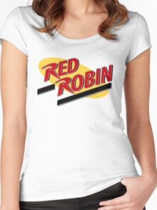 Gotham's Red Robin! Women's Fitted Scoop T-Shirt