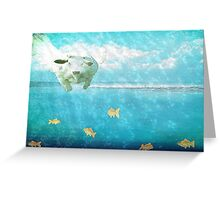 Swimming with the fishes Greeting Card
