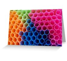 Coloured Straws Greeting Card
