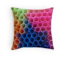 Coloured Straws Throw Pillow