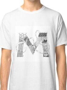 Zentangle®-Inspired Art - Tangled Alphabet - M Classic T-Shirt