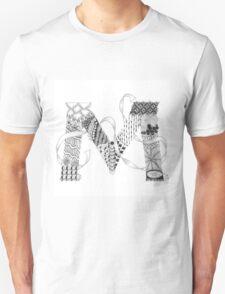 Zentangle®-Inspired Art - Tangled Alphabet - M T-Shirt