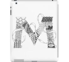Zentangle®-Inspired Art - Tangled Alphabet - M iPad Case/Skin