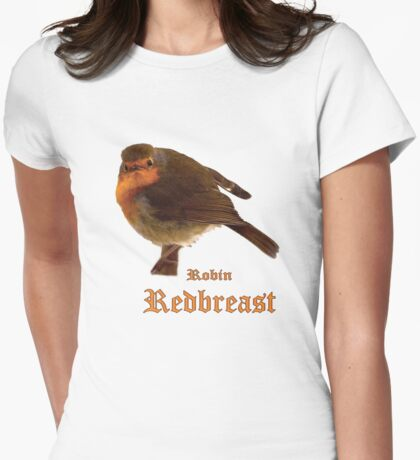 Robin Redbreast Womens Fitted T-Shirt
