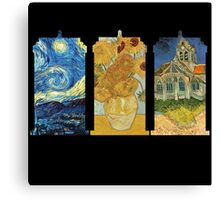 Vincent and The Doctor (Black) Canvas Print