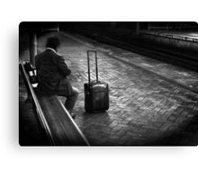 late commuter Canvas Print