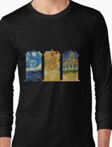 Vincent and The Doctor (Black) Long Sleeve T-Shirt