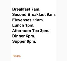 Hobbit Meal Times Unisex T-Shirt