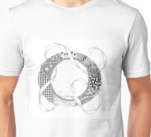 Zentangle®-Inspired Art - Tangled Alphabet - O Unisex T-Shirt