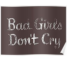 Bad Girls Don't Cry Retro Vintage Movie Poster