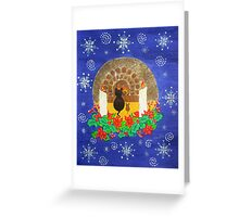 A cosy winters night Greeting Card