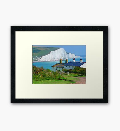 Spot The Seagull - The Seven Sisters Framed Print