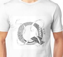Zentangle®-Inspired Art - Tangled Alphabet - Q Unisex T-Shirt
