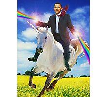 Obama unicorn win Photographic Print