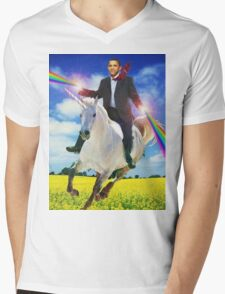 Obama unicorn win Mens V-Neck T-Shirt