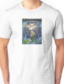 Mermaid pose in color Unisex T-Shirt