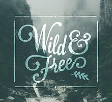 Wild & Free // Woodland deer and plants pattern by hocapontas