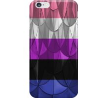 Geometric Genderfluid Pride iPhone Case/Skin