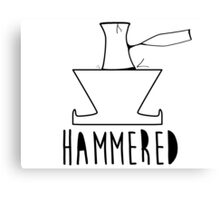 'HAMMERED' Simple but cool Grunge Rock Design Canvas Print