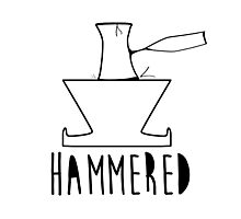 'HAMMERED' Simple but cool Grunge Rock Design Photographic Print
