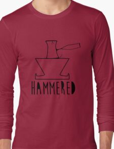 'HAMMERED' Simple but cool Grunge Rock Design Long Sleeve T-Shirt
