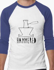 'HAMMERED' Simple but cool Grunge Rock Design Men's Baseball ¾ T-Shirt