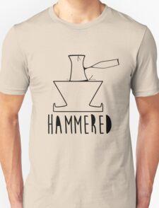 'HAMMERED' Simple but cool Grunge Rock Design Unisex T-Shirt