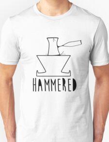 'HAMMERED' Simple but cool Grunge Rock Design T-Shirt