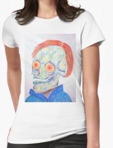 Portrait of a Skeletal Artist Womens Fitted T-Shirt