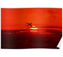 Sunset flight  Poster