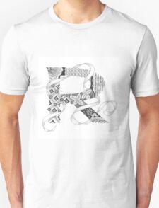 Zentangle®-Inspired Art - Tangled Alphabet - R T-Shirt