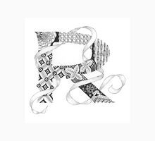 Zentangle®-Inspired Art - Tangled Alphabet - R Unisex T-Shirt