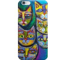 Ten Cheeky Cats  iPhone Case/Skin