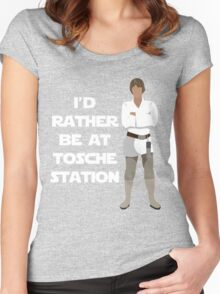 I'd Rather be at Tosche Station Women's Fitted Scoop T-Shirt