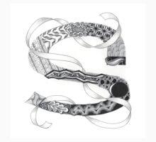 Zentangle®-Inspired Art - Tangled Alphabet - S Kids Tee