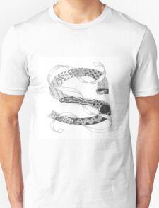 Zentangle®-Inspired Art - Tangled Alphabet - S T-Shirt