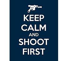KEEP CALM - Han Shot First Photographic Print