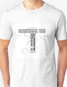 Zentangle®-Inspired Art - Tangled Alphabet - T T-Shirt