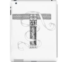 Zentangle®-Inspired Art - Tangled Alphabet - T iPad Case/Skin
