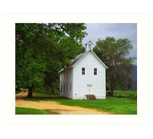 Lone Church, Boxley River Valley, Arkansas Art Print