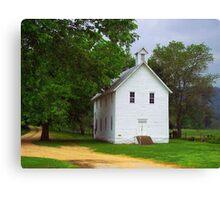 Lone Church, Boxley River Valley, Arkansas Canvas Print