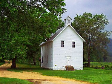 Lone Church, Boxley River Valley, Arkansas by David  Hughes