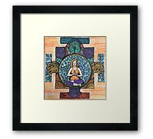 Fire log pose Framed Print