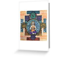 Fire log pose Greeting Card