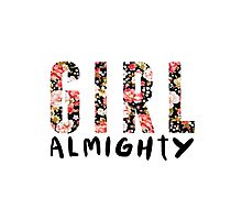 girl almighty - floral Photographic Print