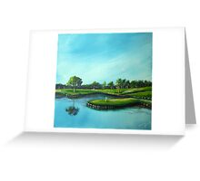 The 17th Hole Greeting Card